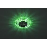 Светильник DK LD3 SL/WH+GR  декор cо светодиодной подсветкой( белый+зеленый) (3W), про