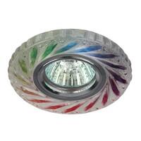 Светильник DK LD13 SL/RGB/WH  декор cо светодиодной подсветкой MR16, мультиколор ЭРА