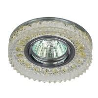 Светильник DK LD14 SL/WH   декор cо светодиодной подсветкой MR16, прозрачный ЭРА