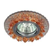 Светильник DK LD19 SL OR/WH  декор cо светодиодной подсветкой MR16, прозрачный оранжевыйЭРА