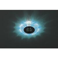 Светильник DK LD2 SL/BL+WH  декор c голубой+белый со  светодиодной подсветкой (3W), прозрачный ЭРА