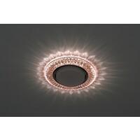Светильник DK LD23 CHP/WH  декор cо светодиодной подсветкой Gx53, шампань ЭРА