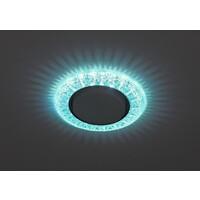 Светильник DK LD22 BL/WH  декор cо светодиодной подсветкой Gx53, голубой  ЭРА