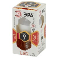 Лампа светодиодная  LED smd P45-9w-827-E27 ЭРА