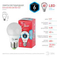 Лампа светодиодная  LED smd A55-6w-840-E27 ЭКО ЭРА