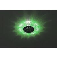 Светильник DK LD2 SL/GR+WH  декоративный с зеленой светодиодной подсветкой.прозрачный ЭРА