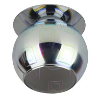 "Светильник DK88-2  ""3D квадрат"" G9,220V, 35W, серебро/мультиколор ЭРА"