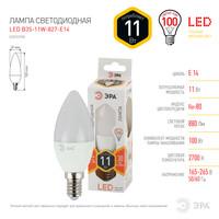 Лампа светодиодная  LED smd B35-11w-827-E14 ЭРА