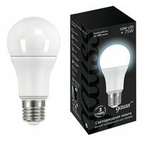 Светодиодная лампа  LED A60 10W E27 920lm 4100K GAUSS BLACK