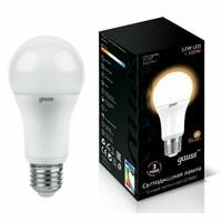 Светодиодная лампа  LED A60 12W E27 1150lm 3000K GAUSS BLACK