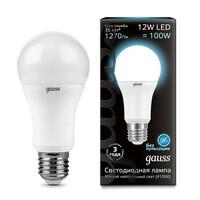 Светодиодная лампа  LED A60 12W E27 1200lm 4100K GAUSS BLACK