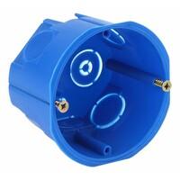 Коробка установочная приборная 68х45мм для твердых стен с саморезами (синяя) IP20(200шт) аналог  ЭРА