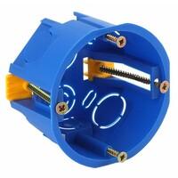 Коробка установочная приборная  68х45мм для полых стен с саморез. с пластиковыми лапками (синяя) ЭРА