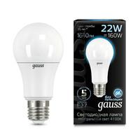 Светодиодная лампа  LED A70 22W E27 1640lm 4100K GAUSS BLACK