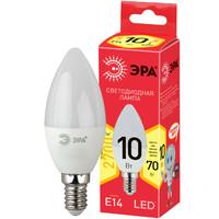 Лампа светодиодная  LED smd B35-10w-827-E14 ECO ЭРА