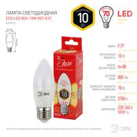 Лампа светодиодная  LED smd B35-10w-827-E27 ECO ЭРА