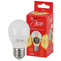 Лампа светодиодная  LED smd Р45-10w-827-E27 ECO ЭРА