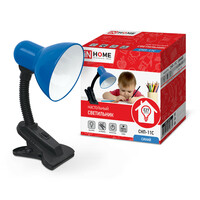 ВЫВЕЛИ Светильник настольный под лампу СНП-11С на прищепке 40Вт E27 синий (коробка) IN HOME