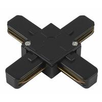 Коннектор для трекового светильника TR7-C 2W X BK Х-образный черный  ЭРА