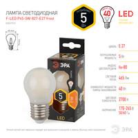 Лампа светодиодная  F-LED P45-5w-827 E27 frost ЭРА