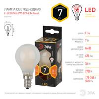 Лампа светодиодная  F-LED P45-7w-827-E14 frost ЭРА