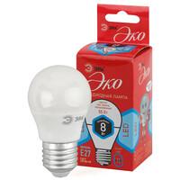 Лампа светодиодная  LED smd Р45-8w-840-E27 ECO ЭРА