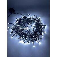 Гирлянда LED Нить Мишура  3,9 м зеленый провод, холодный свет, 220V(24/576), (ENIN-GC) ЭРА
