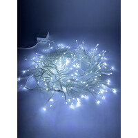 Гирлянда LED Мишура  3,9 м белый провод, холодный свет, 220V(24/576), (ENIN-WС) ЭРА