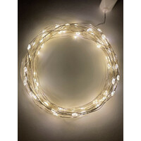 Гирлянда LED Нить 10 м теплый свет, 220V(100/1800), (ENIN-10NW) ЭРА