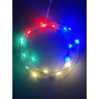 Гирлянда LED Нить  2 м, мультиколор, АА,  IP20 (120/3840), (ENIB-2М)  ЭРА