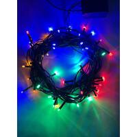 Гирлянда LED Нить 5 м, мультиколор,  8 режимов, 220V, IP 20 (100/1500), (ENIN-5М) ЭРА