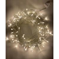 Гирлянда LED Нить 10 м, теплый свет, 24V, IP44 (80/960) (ENОN-10B) ЭРА