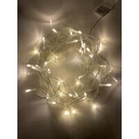 Гирлянда LED Нить 5 м, теплый свет, 24V, IP44 (80/1920) (ENОN-5B) ЭРА