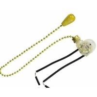 Шнур на цепочке с микровыключателем золото